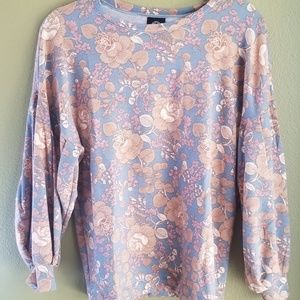 Bobeau long sleeved top size small